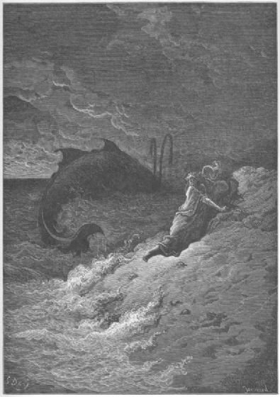 Dore, Gustave: Jonah and the Whale. Fine Art Print/Poster. Sizes: A4/A3/A2/A1 (001832)
